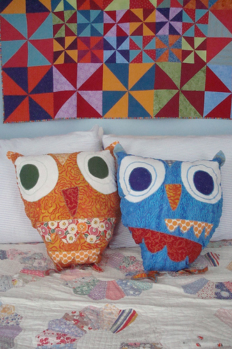 Owl pillows for blog