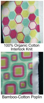 New fabrics include organic cotton knit and bamboo-cotton blend