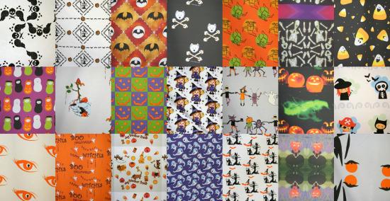 Halloween fabrics, round 1