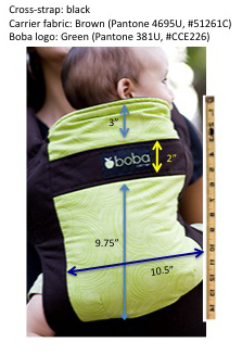 Baby-carrier dimensions