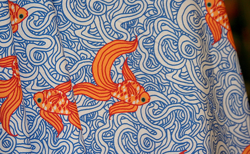 Weird Fishes by Leigh R - Fabric of the Week Winner