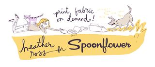 Heather Ross blog announcement about Spoonflower fabrics