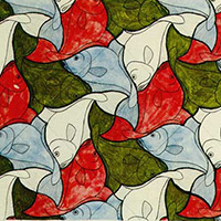 Escher fish from gallery at Tessellations.org