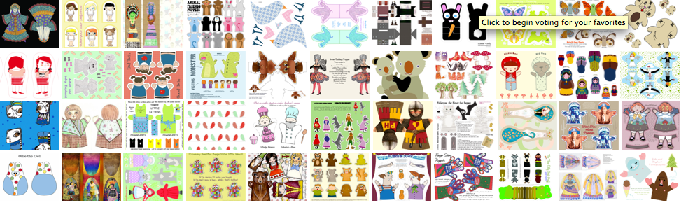 Vote for your favorite puppet patterns