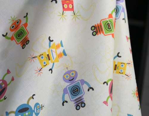 Buy Jumping Monkeys Robot fabric