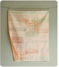 Image from CathyHeckStudio: 2011 Calendar TeaTowel2