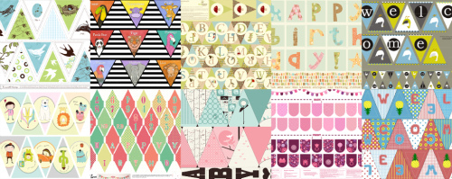 Bunting collage2