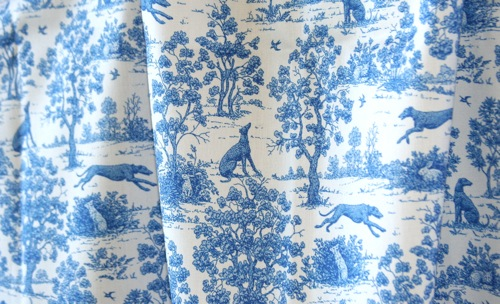 Bright indigo blue greyhound toile ©2010 by jane walker