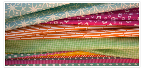 Fabrics selected by Sister Diane of CraftyPod