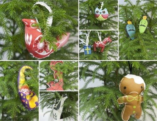 Hanging ornament collage