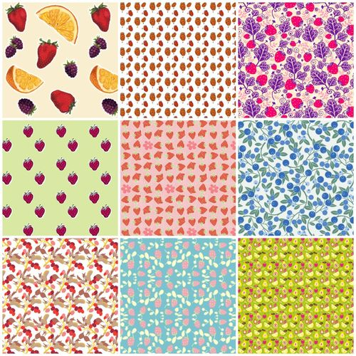 Berry fabrics collage