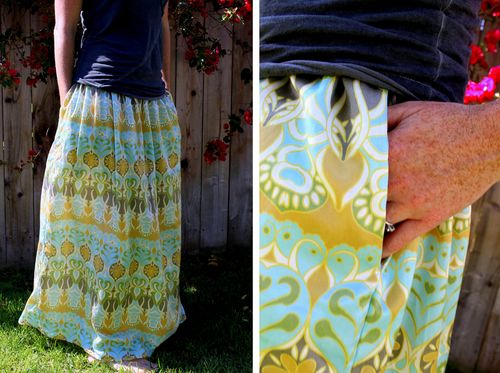 Maxi skirt collage
