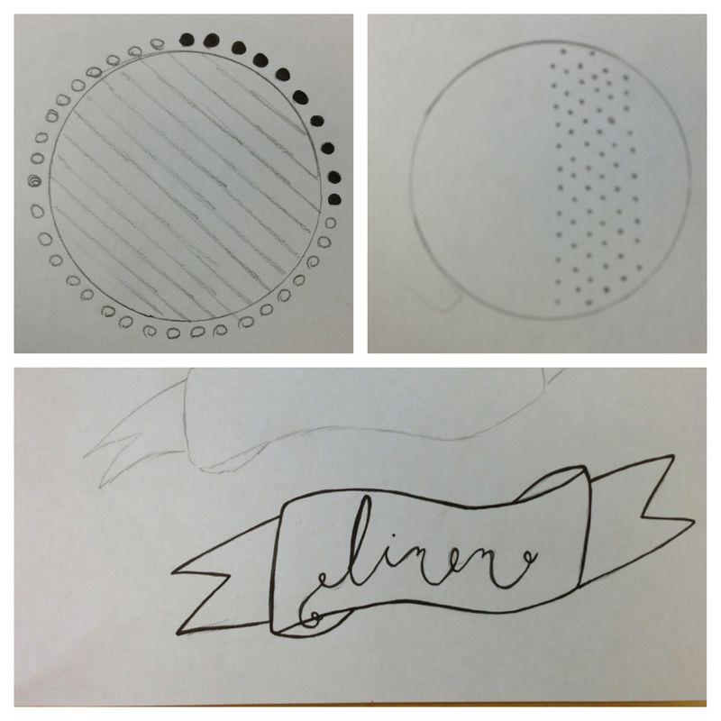 Label idea sketches