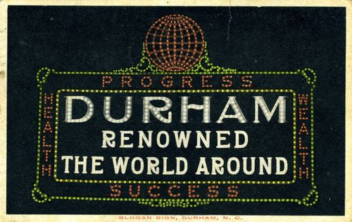 Durham_renowned_sign
