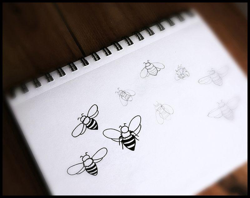 BeesDrawing