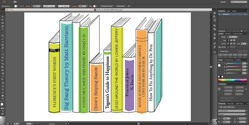 Finished Book Spine Design