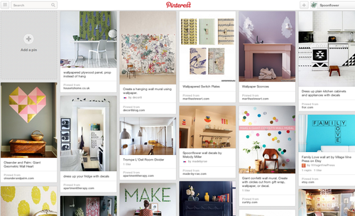Spoonflower Renter Dec Pinterest Board