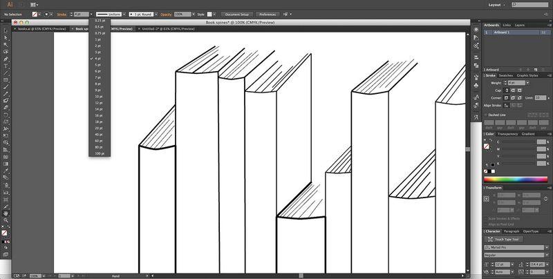 Designing Book Spine Image