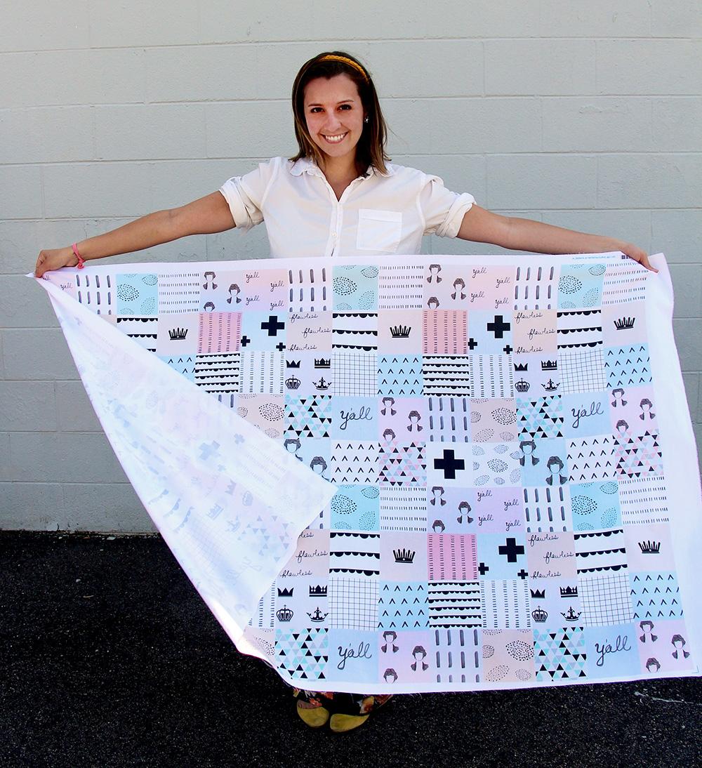 Cheater Quilt Fabric Design Tutorial - Spoonflower Blog – Design ... : cheater quilt tops - Adamdwight.com