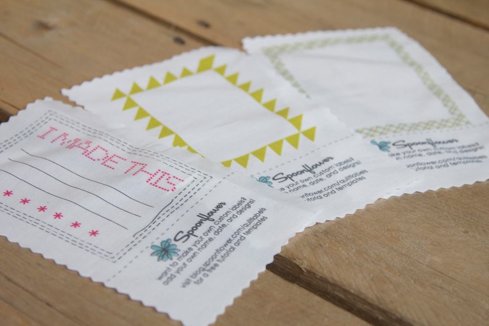 Design Your Own Quilt Labels - Spoonflower Blog – Design & Sell ... : personalized fabric quilt labels - Adamdwight.com