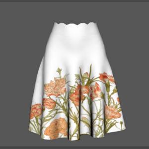 3D skirt border print