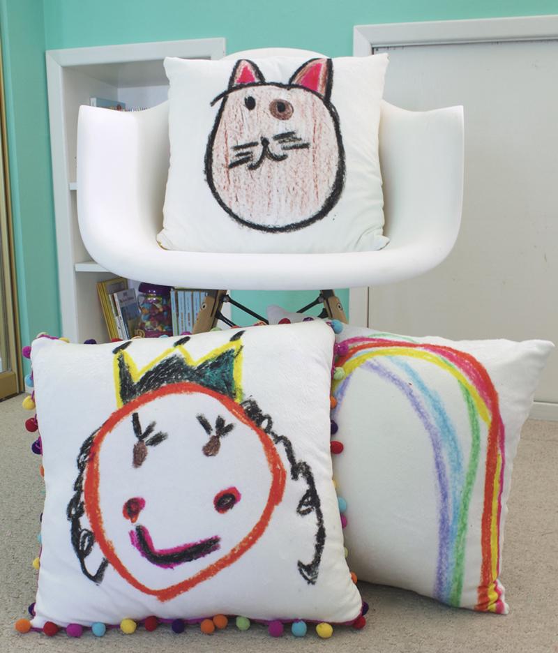 Custom Minky cushions